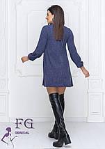 Теплое платье трапеция ангора-рубчик Черный, 42-44, фото 2