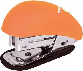 Степлер №24/6, 26/6 мини Optima Soft Touch оранжевый