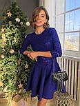 Женское платье с пайетками и замшевой юбкой-солнце (в расцветках), фото 8