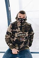 Анорак зимний мужской куртка NAPAPIJRI camo3 (реплика), фото 1