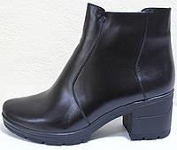 Ботинки женские зимние кожаные на каблуке от производителя модель СТБ10, фото 1