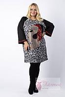 Платье-туника с рукавом реглан и  цветной вышивкой Darkwin