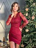 Женское платье замшевое с кружевом (в расцветках), фото 3