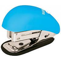 Степлер №24/6, 26/6 мини Optima Soft Touch голубой