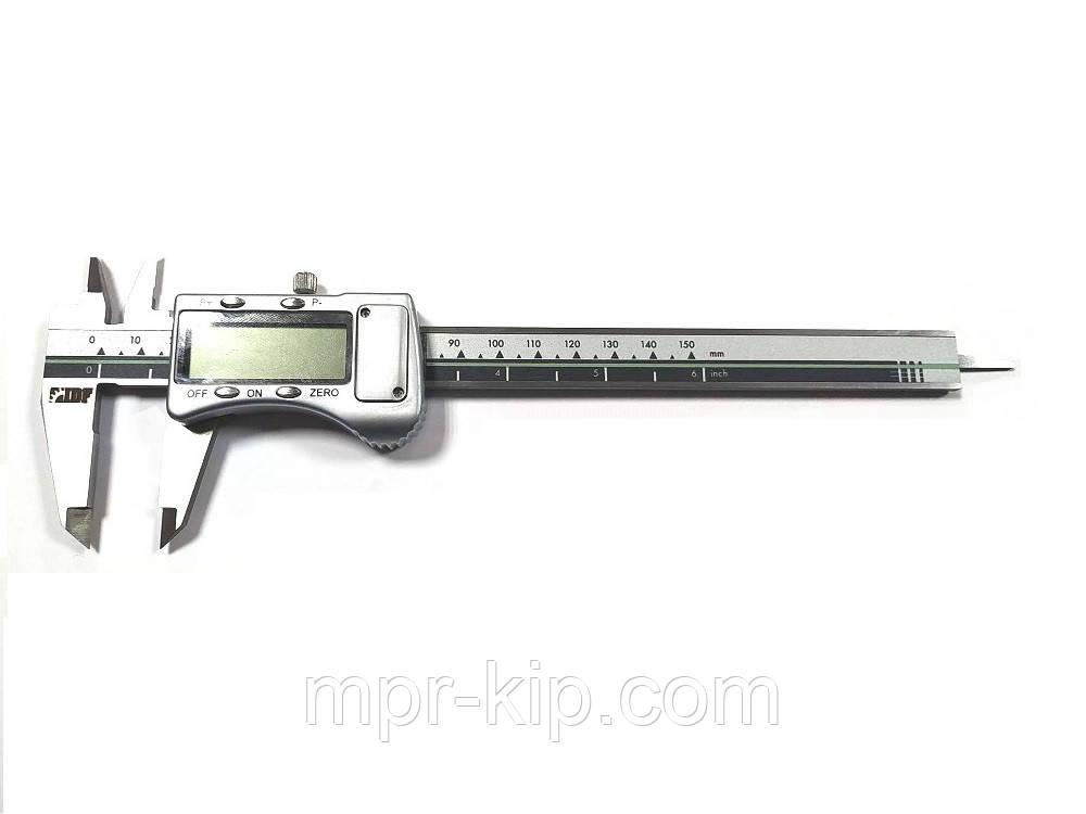 Штангенциркуль електронний I. D. F. 150M (0-150 мм; ±0.02) в металевому корпусі IP67 Італія