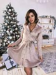 Женское замшевое платье-рубашка (в расцветках), фото 2