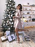 Женское замшевое платье-рубашка (в расцветках), фото 3