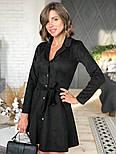 Женское замшевое платье-рубашка (в расцветках), фото 5