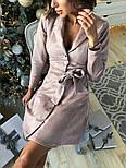 Женское замшевое платье-рубашка (в расцветках), фото 9