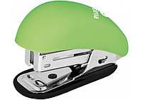 Степлер №24/6, 26/6 мини Optima Soft Touch салатовый