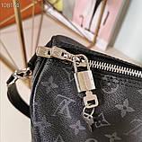 Дорожная сумка Луи Витон, Monogram Graphite 50 см, кожаная реплика, фото 3