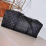 Дорожная сумка Луи Витон, Monogram Graphite 50 см, кожаная реплика, фото 4