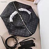 Дорожная сумка Луи Витон, Monogram Graphite 50 см, кожаная реплика, фото 5