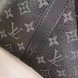 Дорожная сумка Луи Витон, Monogram Graphite 50 см, кожаная реплика, фото 6