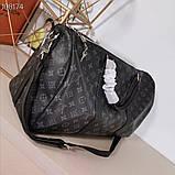 Дорожная сумка Луи Витон, Monogram Graphite 50 см, кожаная реплика, фото 9