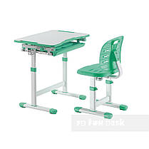 Комплект парта + стул трансформеры Piccolino III Green FunDesk - ОПТОМ ДЛЯ ШКОЛ, фото 3