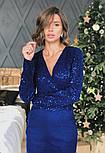 Женское платье замшевое верх с пайетками (в расцветках), фото 4