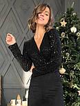 Женское платье замшевое верх с пайетками (в расцветках), фото 3