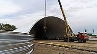 Начато строительство бескаркасного арочного ангара
