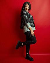 """Стильный женский брючный костюм-двойка  """"Luana"""" с перфорированной блузой (большие размеры), фото 3"""