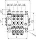 Распределитель гидравлический восьмисекционный Akon S58 (50013108000), фото 2
