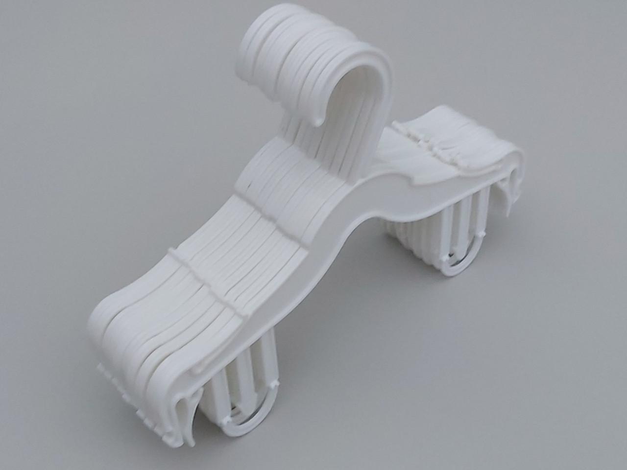 Плічка вішалки пластмасові для нижньої білизни V-DS26 білого кольору, довжина 25,5 см, 10 штук в упаковці