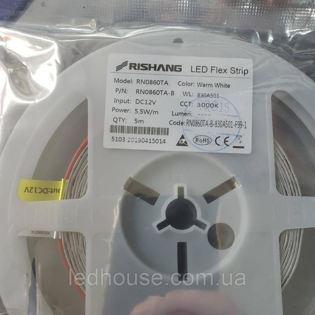 Светодиодная лента RISHANG 2835/60 5,5 Вт IP33 Теплый белый 4000k (RN0860TA)
