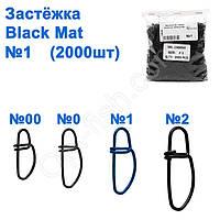 Застежка WL-100050 black mat (2000шт) №1