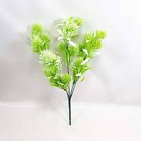 Куст искусственной пихты-2,цвет светло зеленый с белым,пластик 34 см, фото 1