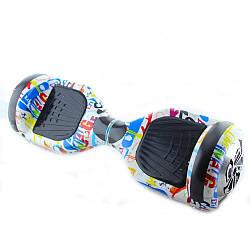 Гироскутер Smart Balance Wheel 6.5 A3 №7 Графіті на білому фоні з АКБ Samsung