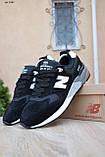 Чоловічі кросівки в стилі New Balance 999 чорні (біла N) замша, фото 3