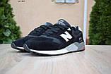 Чоловічі кросівки в стилі New Balance 999 чорні (біла N) замша, фото 6