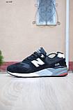 Чоловічі кросівки в стилі New Balance 999 чорні (біла N) замша, фото 8