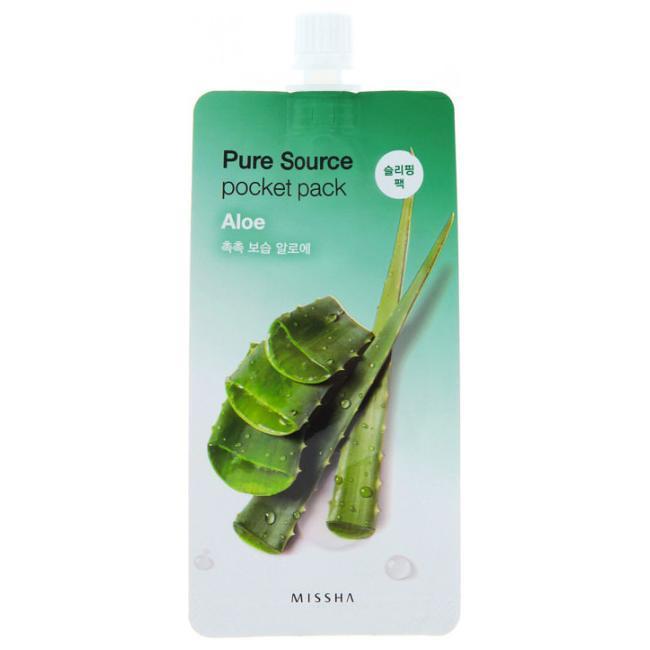 Ночная маска с экстрактом алоэ MISSHA Pure Source Pocket Pack Aloe 10 мл