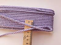 Шнур текстильный декоративный,  шелковистый. Бузковий . Діаметр 3,5 мм.  Туреччина. Ціна за 1 метр