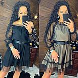 """Женское платье сетка в горошек"""" с глиттером (в расцветках), фото 2"""