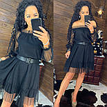 """Женское платье сетка в горошек"""" с глиттером (в расцветках), фото 3"""
