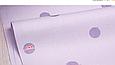 Сатин (хлопковая ткань)   крупный фиолетовый горох (лоскут 25*160), фото 2