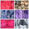 Изделия из меха кролика разные цвета