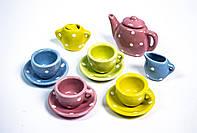 Игрушечный Чайный Фарфоровый сервиз Разноцветный D 501