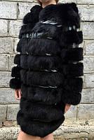 Пальто хутряне з капюшоном., фото 1