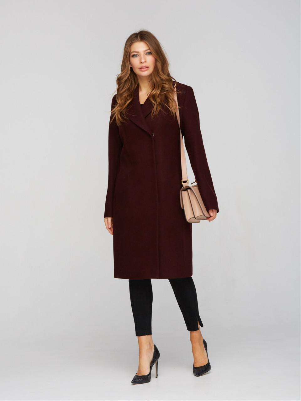 Женское классическое пальто с английским воротником, от 40 размера