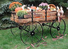 Передвижные декоративные тележки для сада, дачи, загородного участка (Decorative Garden Cart 02)