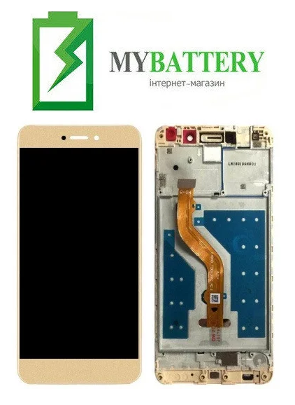 Дисплей (LCD) Huawei Y7 2017 (TRT-L21)/ Y7 Prime/ Nova Lite Plus с сенсором золотой + рамка