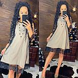 Женское платье-двойка с кружевом (в расцветках), фото 5