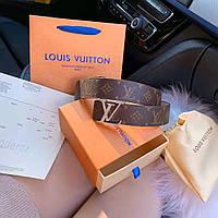 Ремень мужской кожаный стильный брендовый от Louis Vuitton Луи Виттон