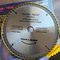 Круг для церкулярки з побідітовими напайками Falon Tech 185*20(60зб)