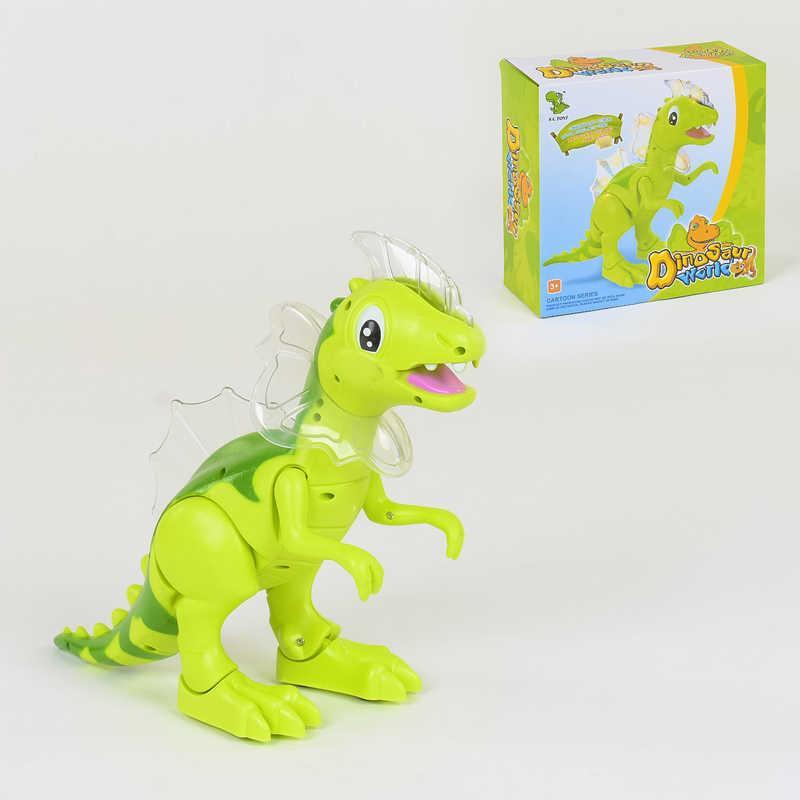 Динозавр 1016 А (36/2) рычит, подсветка, ходит, на батарейке,  в коробке