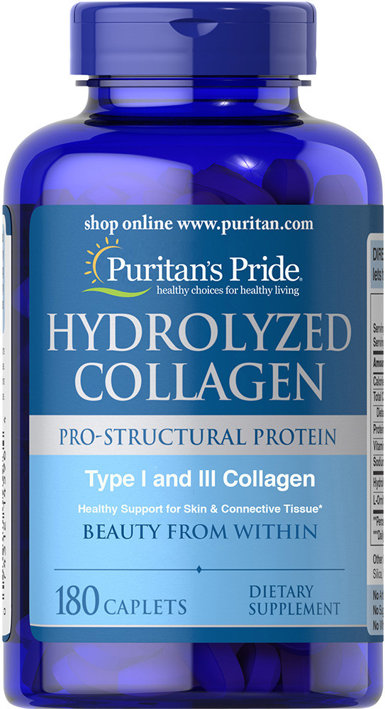 Коллаген Hydrolyzed Collagen Puritan's Pride 1000 mg 180 caps