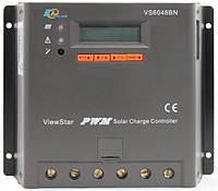 Контроллер заряда ШИМ (PWM)  60А 12/24/36/48В с дисплеем (VS6048BN) EPSolar
